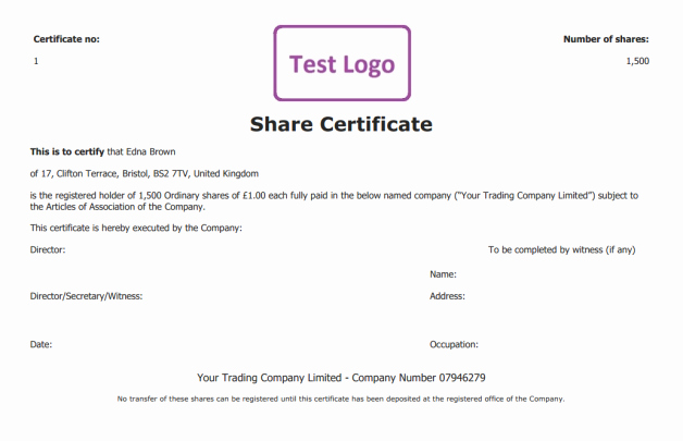 Stock Certificate Template Free Unique Free Share Certificate Template Create Perfect Share