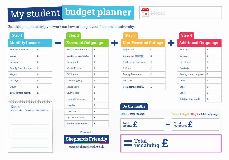 Student Monthly Budget Template Elegant Student Bud Planner Infographic E Learning Infographics