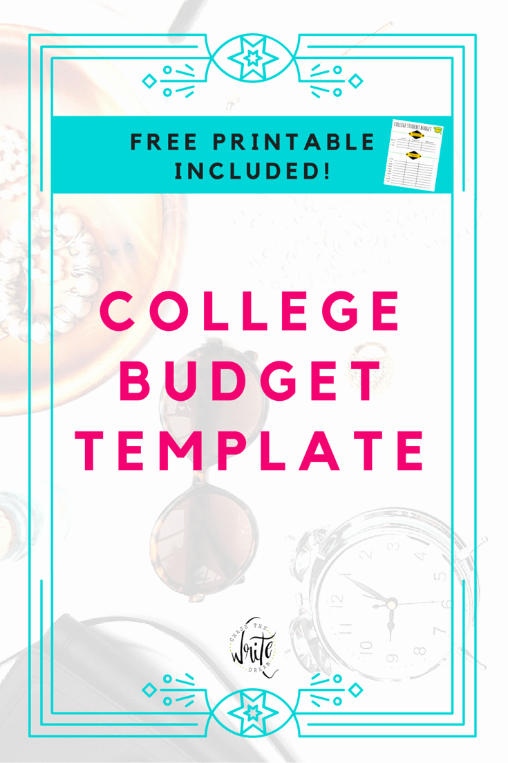 Student Monthly Budget Template Luxury College Bud Template Free Printable for Students
