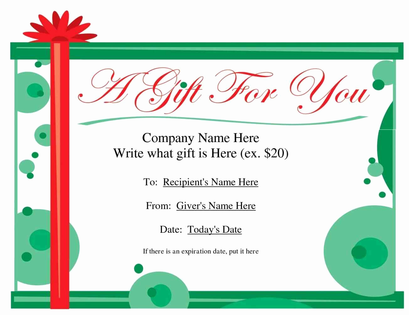 Template for A Gift Certificate Beautiful Create Your Own Gift Certificate Template Update234