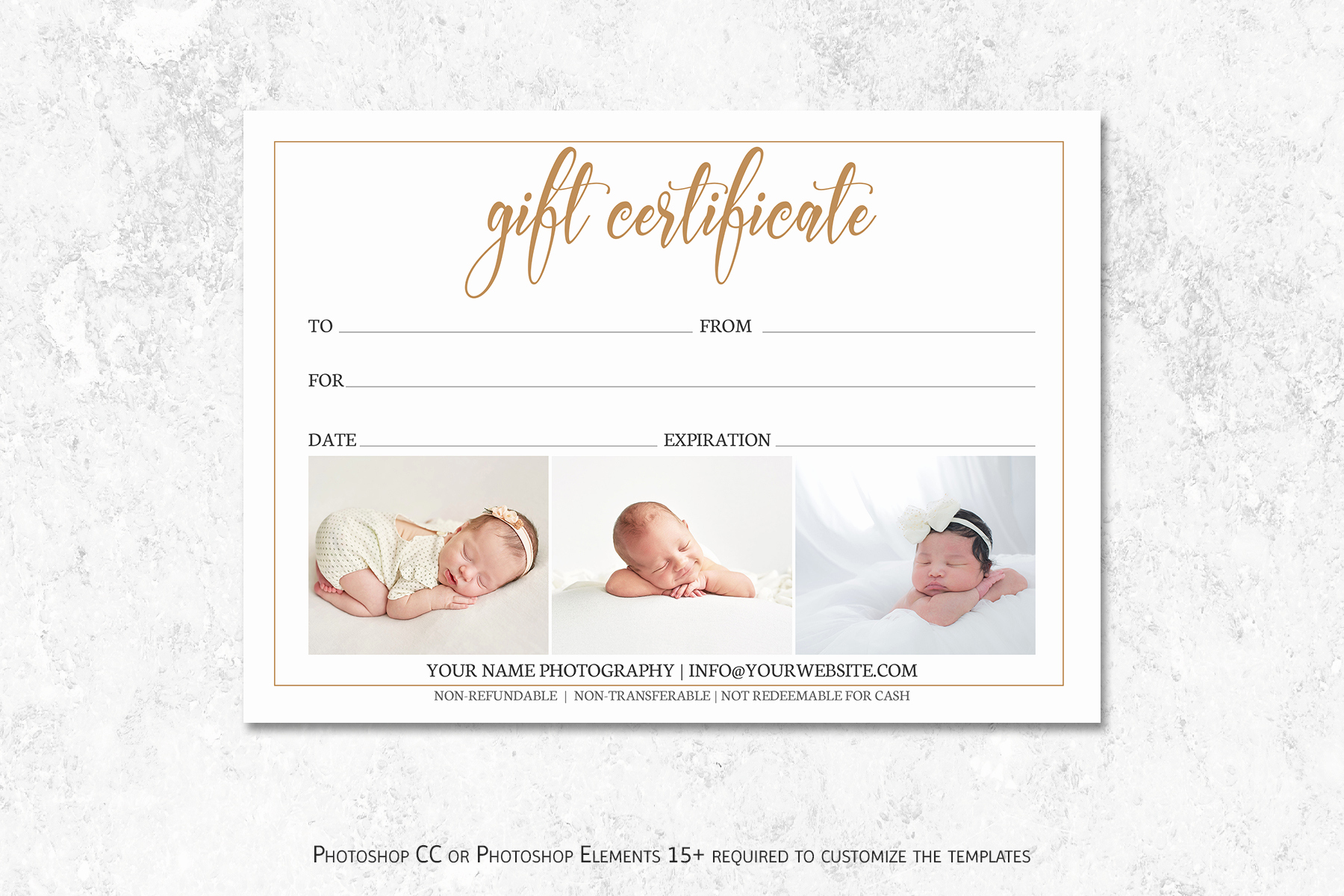 Template for A Gift Certificate Elegant Graphy Gift Certificate Template