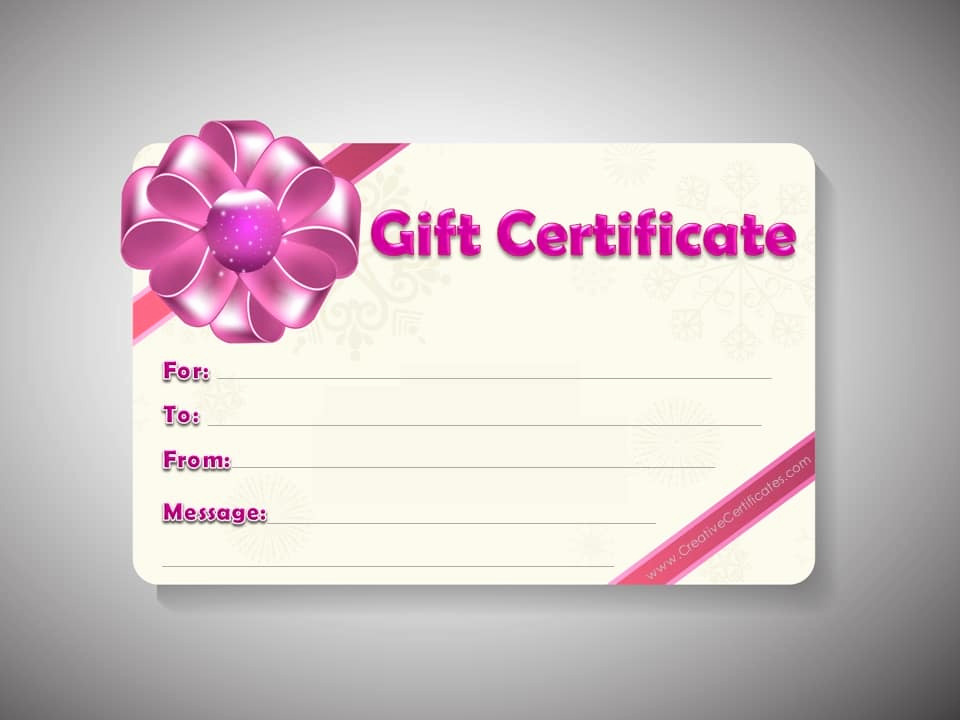 Template for A Gift Certificate Fresh Free Gift Certificate Template Customizable