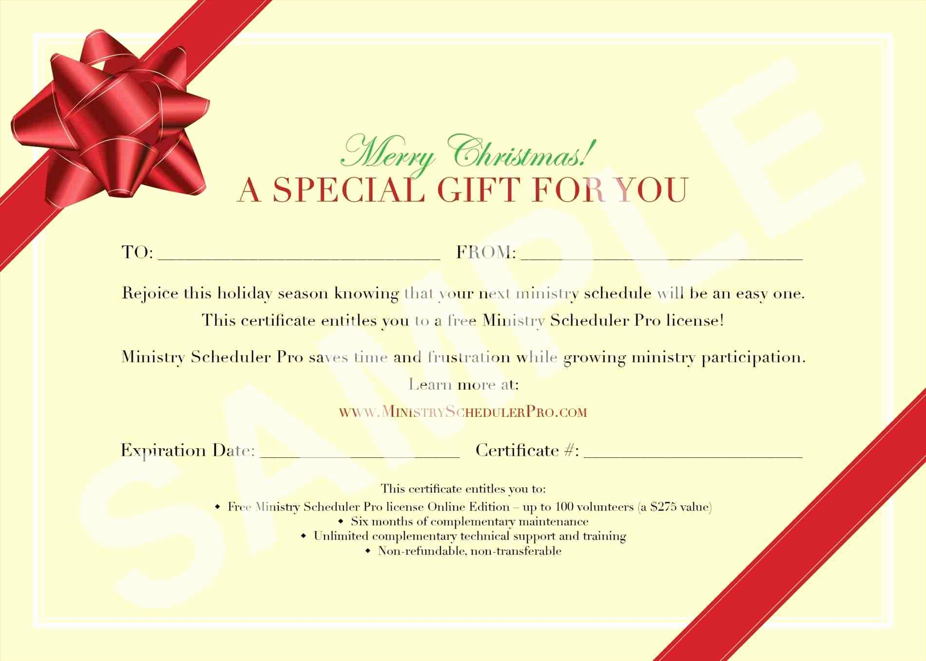 Template for A Gift Certificate Fresh Homemade Voucher Template