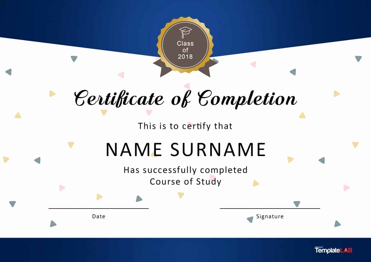 Template for Certificate Of Completion Elegant 40 Fantastic Certificate Of Pletion Templates [word
