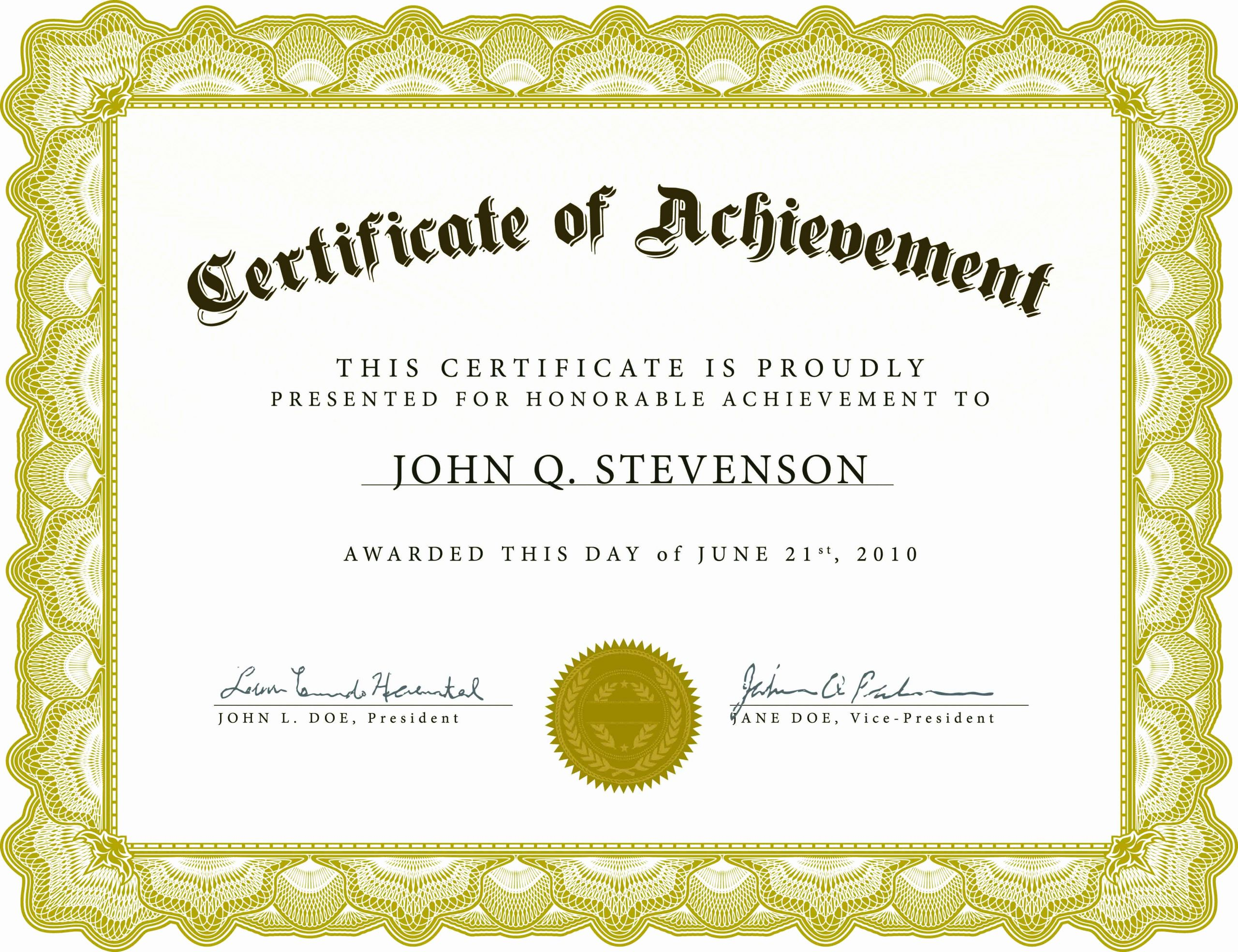 Template for Certificate Of Completion Fresh Blank Certificate Template X3hr9dto