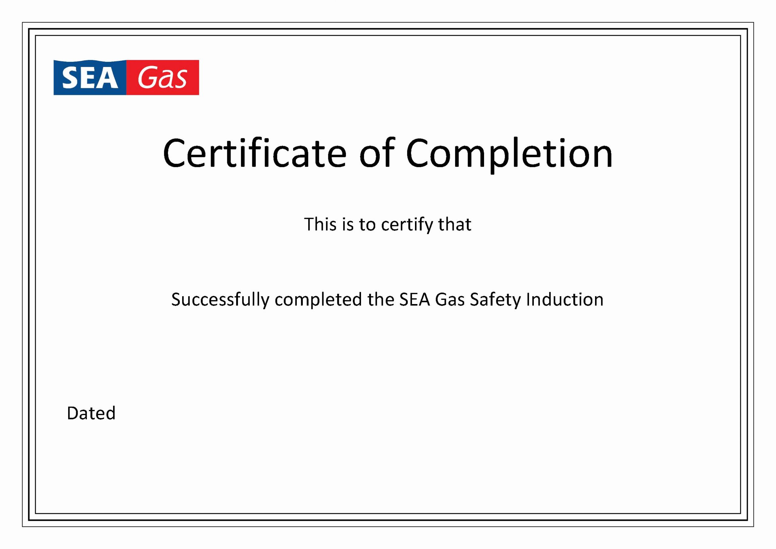 Template for Certificate Of Completion Lovely Certificate Of Pletion Template
