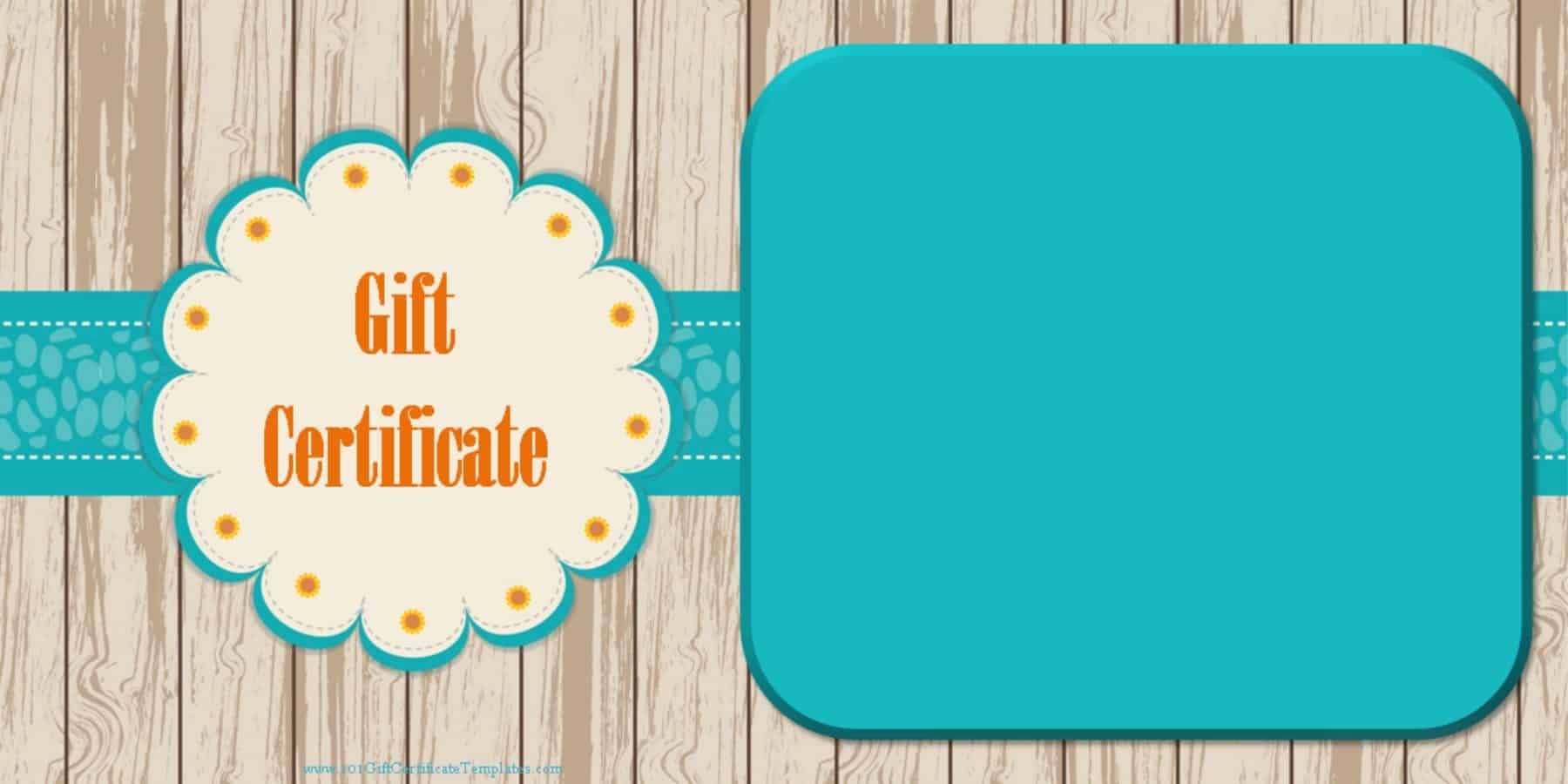 Template for Gift Certificate Inspirational Printable Gift Certificate Templates