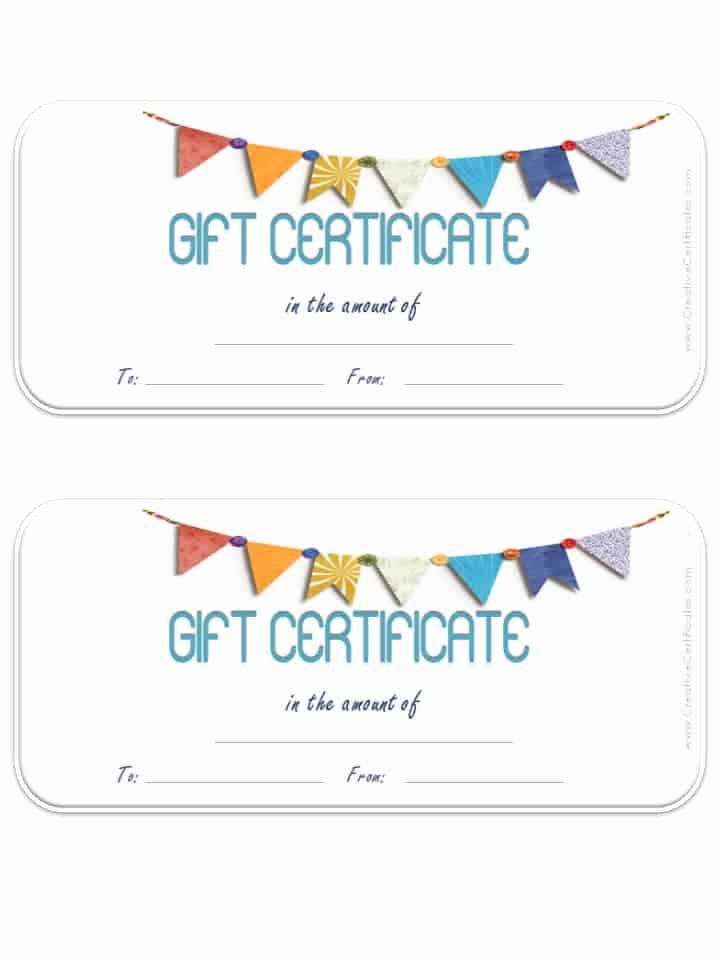 Template for Gift Certificate Luxury Free Gift Certificate Template Customizable