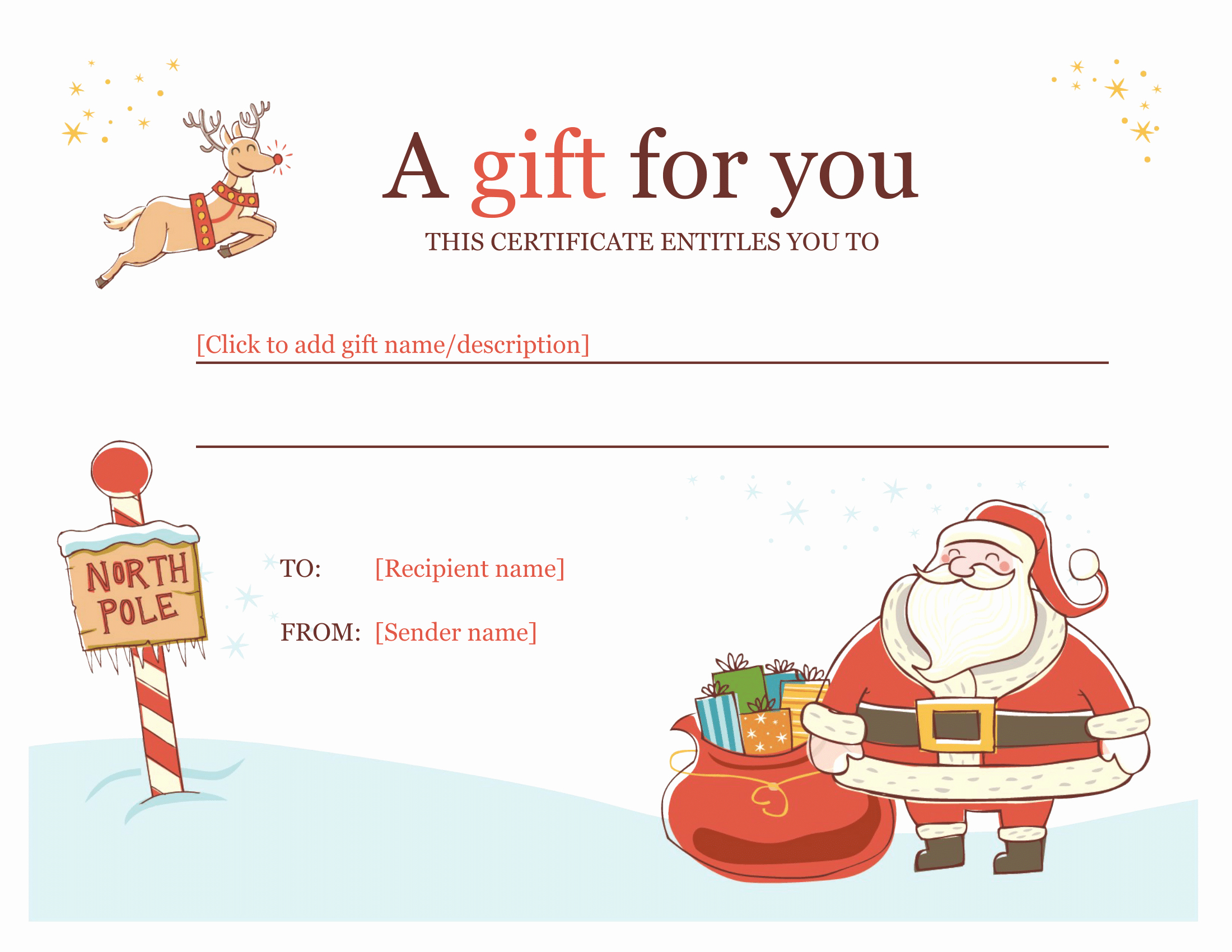 Template for Gift Certificate New Certificates Download Free Business Letter Templates and