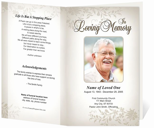 Template for Memorial Service Elegant 17 Best Images About Memorial Brochure and Scripts On