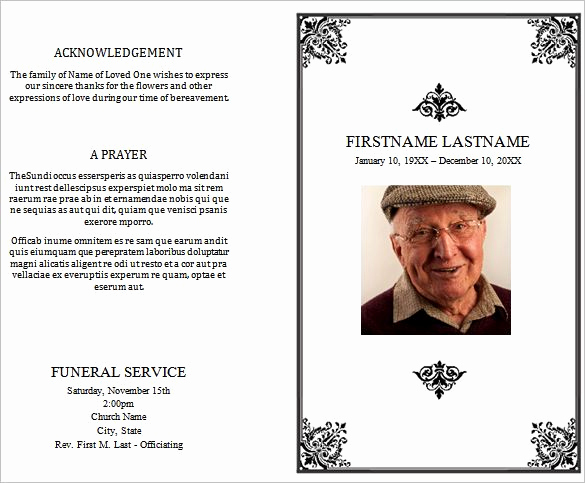 Template for Memorial Service Elegant 31 Funeral Program Templates Free Word Pdf Psd