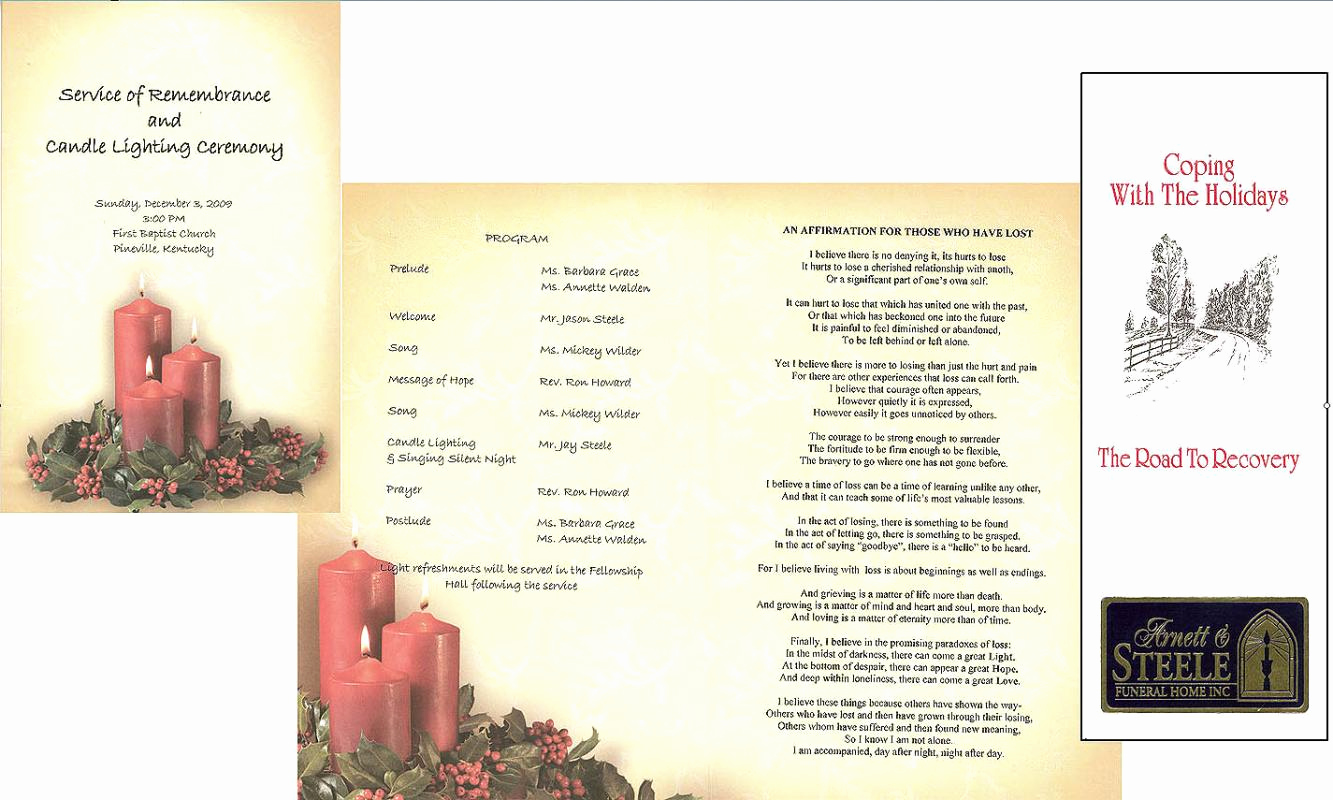 Template for Memorial Service Elegant Free Memorial Service Program Template