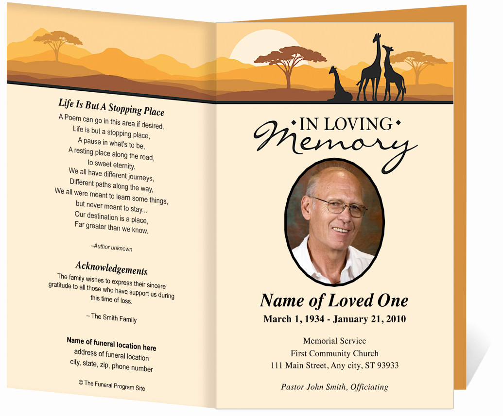 Template for Memorial Service Lovely Free Funeral Program Template