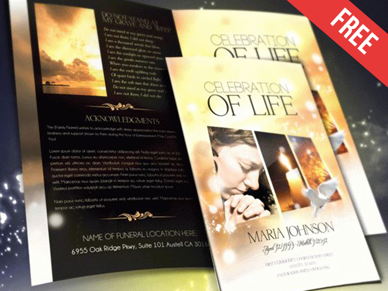 Template for Memorial Service Lovely Funeral Program Brochure Template – Celebration Of Life by