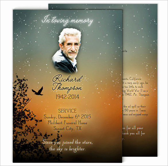 Template for Memorial Service Luxury 14 Obituary Program Template Free Download