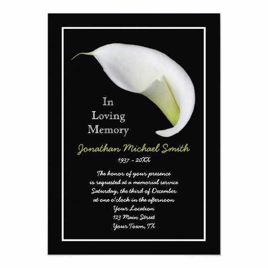 Template for Memorial Service Luxury Memorial Service Invitation Announcement Template