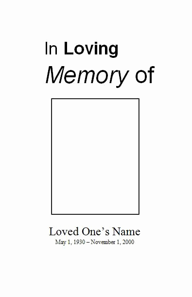 Template for Memorial Service New 1000 Images About Printable Funeral Program Templates On