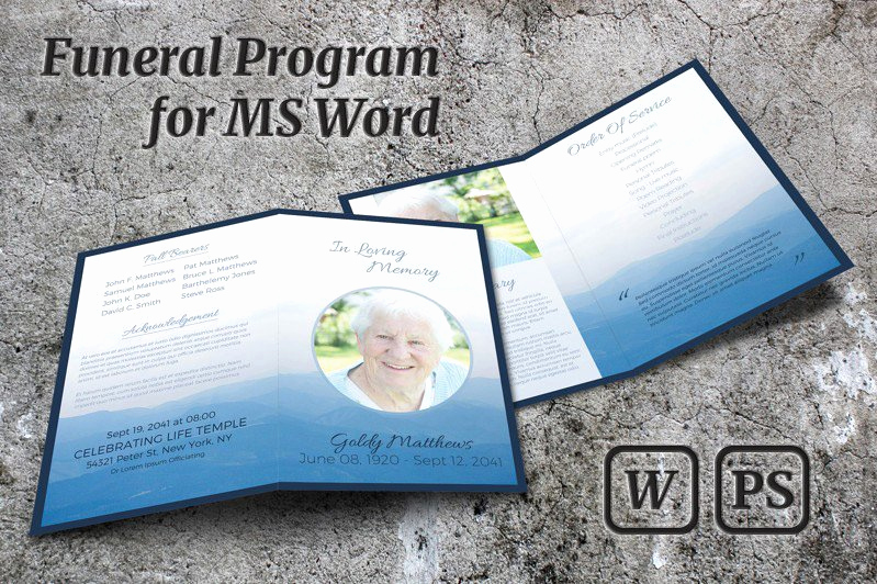 Template for Memorial Service Unique Memorial Service Program Template Brochure Templates