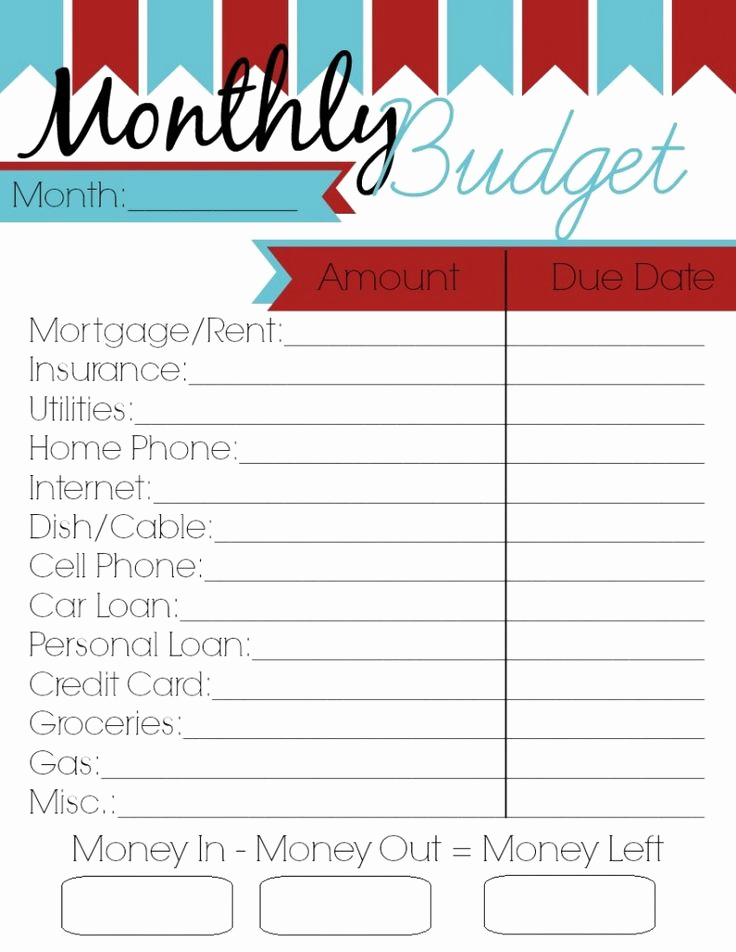 Template for Monthly Budget Beautiful Monthly Bud Printable Woman Of Many Roles