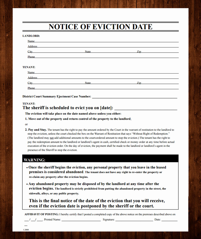 Tenant Eviction Notice Template Best Of 12 Free Eviction Notice Templates for Download Designyep
