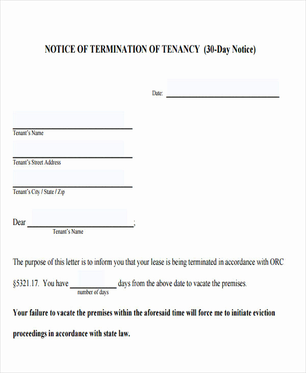 Tenant Eviction Notice Template Inspirational Free 32 Eviction Notice Templates In Pdf