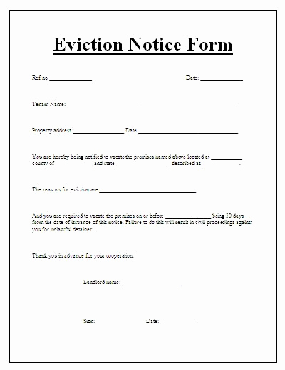 Tenant Eviction Notice Template New Printable Tenant Eviction Notice