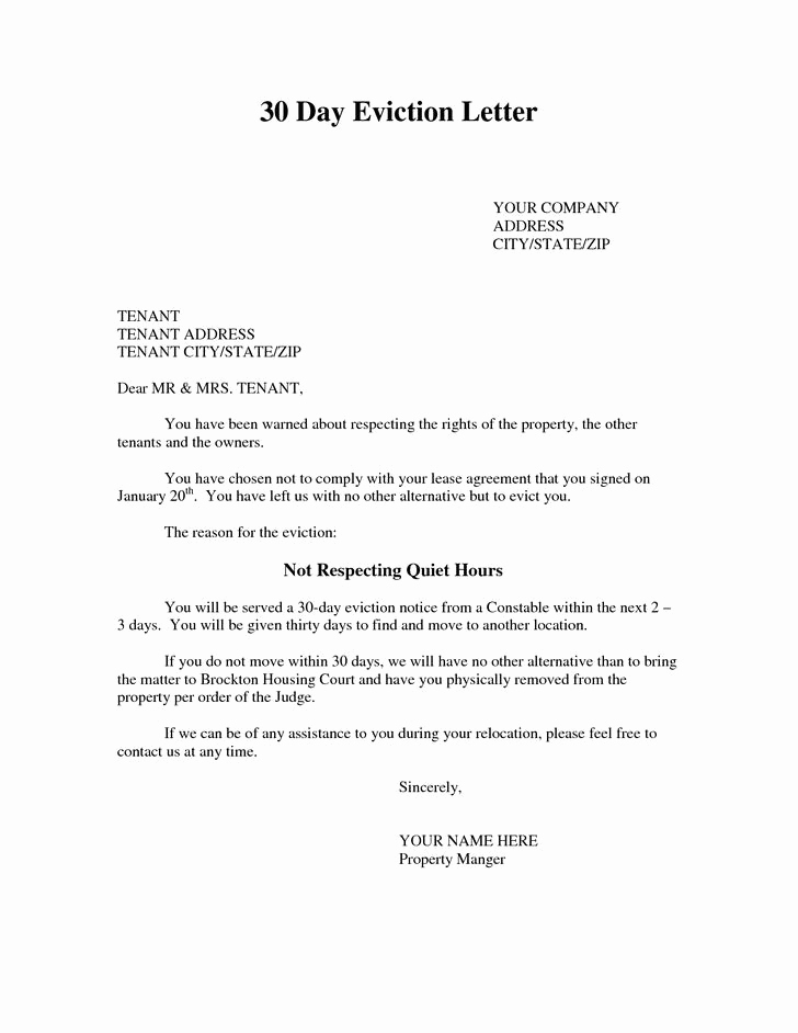 Tenant Eviction Notice Template Unique 25 Eviction Notice Template Free Download