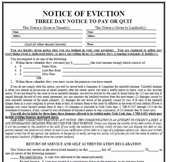 Texas Eviction Notice Template Awesome Printable Sample 3 Day Eviction Notice form
