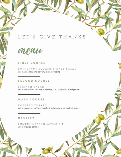 Thanksgiving Day Menu Template Awesome Customize 40 Thanksgiving Menu Templates Online Canva