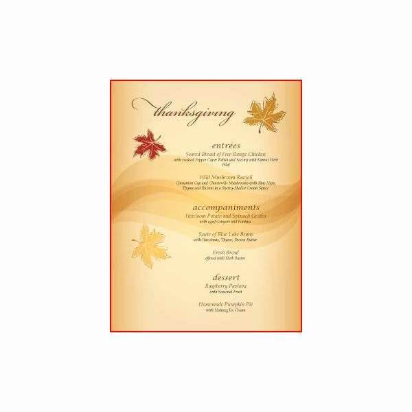 Thanksgiving Day Menu Template Awesome Great Thanksgiving Day Menu Templates to Entice and