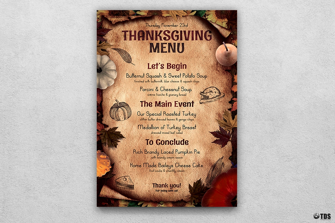 Thanksgiving Day Menu Template Beautiful Thanksgiving Menu Flyer Templates to Customize with Photoshop