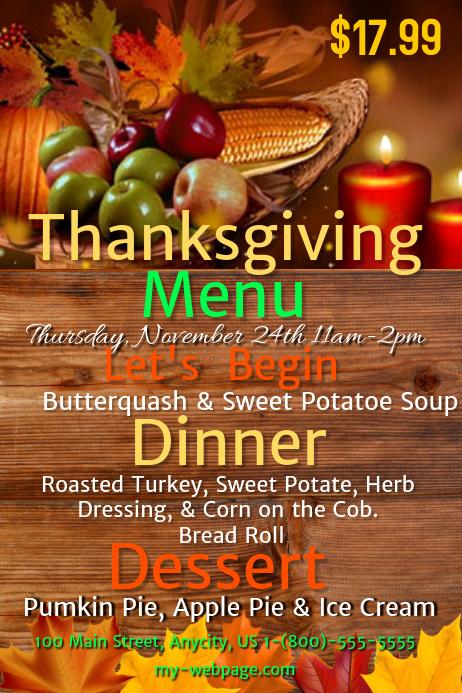 Thanksgiving Day Menu Template Best Of Thanksgiving Menu Template