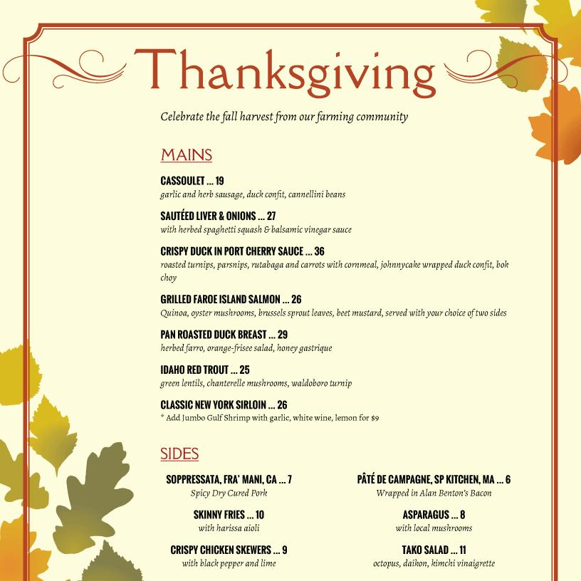 Thanksgiving Day Menu Template Elegant Thanksgiving Menu Template