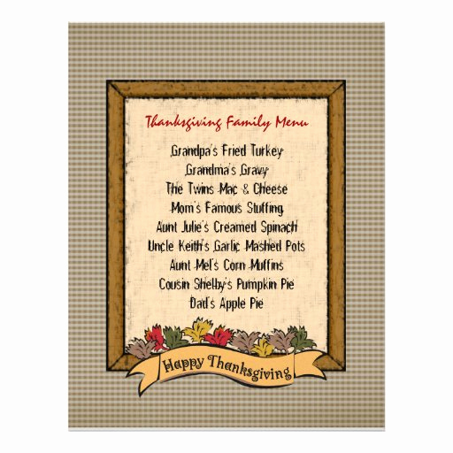 Thanksgiving Day Menu Template Luxury Thanksgiving Menu Template Flyer