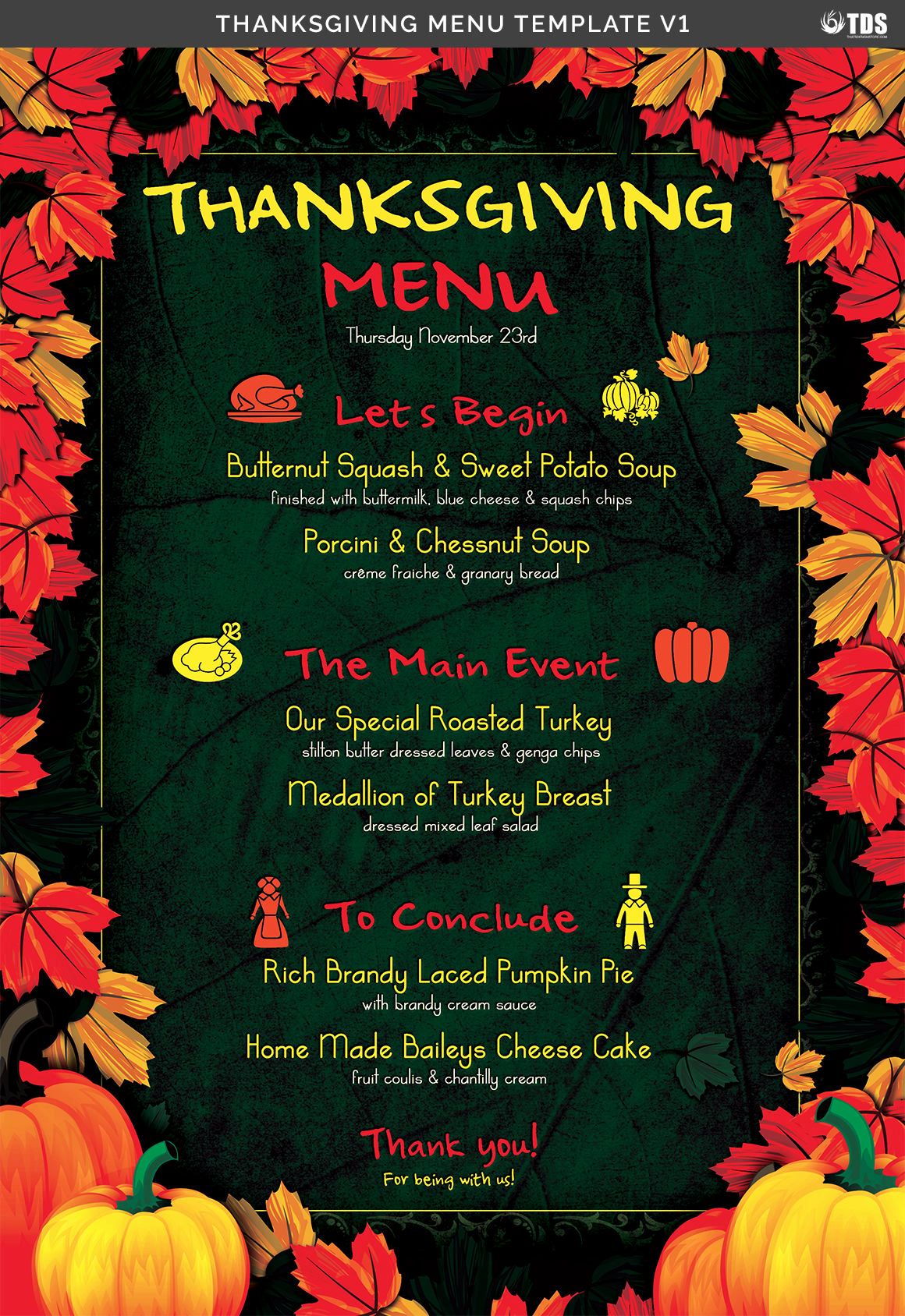 Thanksgiving Day Menu Template Unique Thanksgiving Menu Template V1 by thats Design Store
