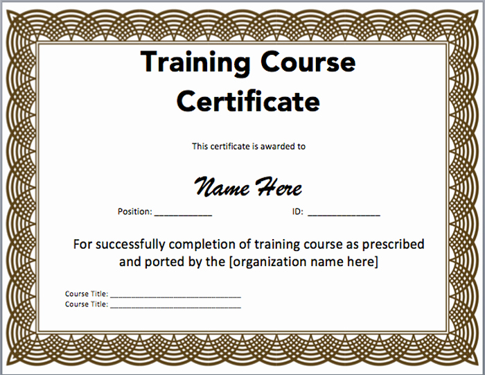 Training Certificate Template Doc Awesome 15 Training Certificate Templates Free Download Designyep