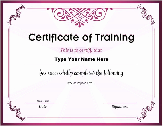 Training Certificate Template Doc Awesome How to Make Certificate Of Training with Do S & Dont S