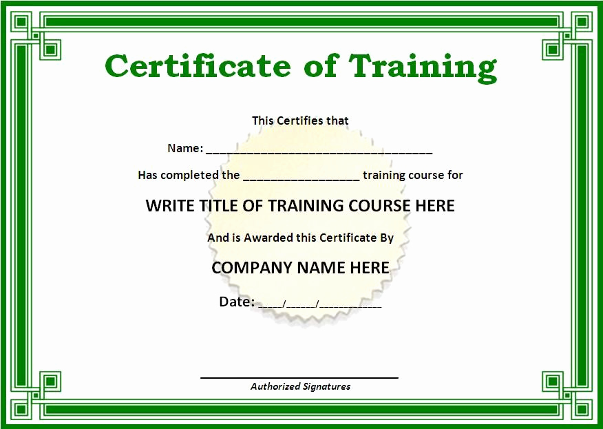 Training Certificate Template Doc Awesome Training Certificate Templates for Word