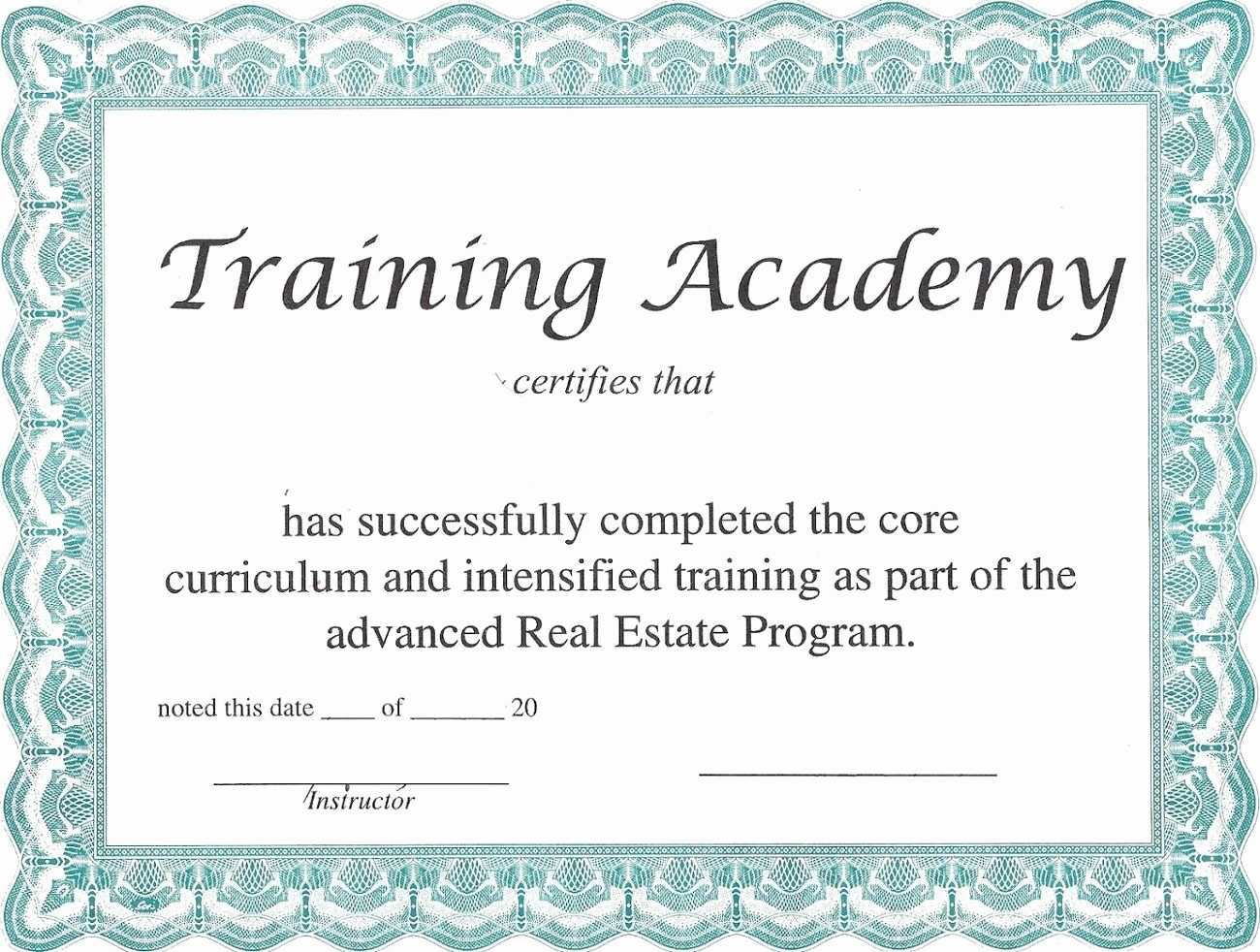 Training Certificate Template Doc Fresh Blank Certificate Templates to Print