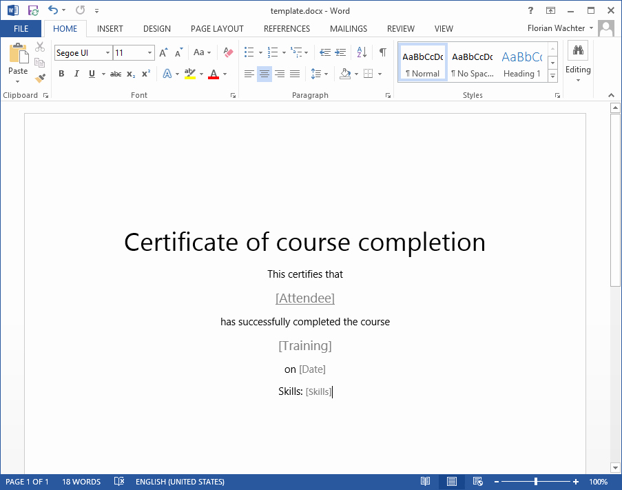 Training Certificate Template Doc Fresh How to Create A Training Certificate In Point