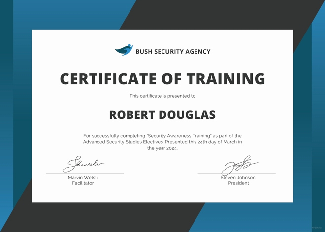 Training Certificate Template Doc Lovely Safety Certificate Template 9 Free Word Pdf Document