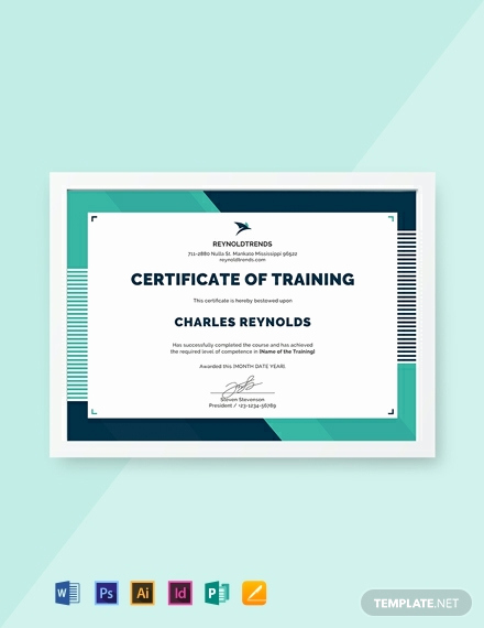 Training Certificate Template Free Download Elegant Free Pany Training Certificate Template Word