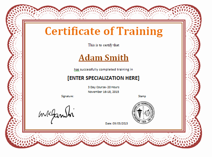 Training Certificate Template Free Download Fresh 15 Training Certificate Templates Free Download Designyep