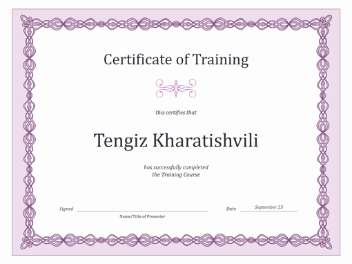 Training Certificate Template Free Download Inspirational Certificates Fice