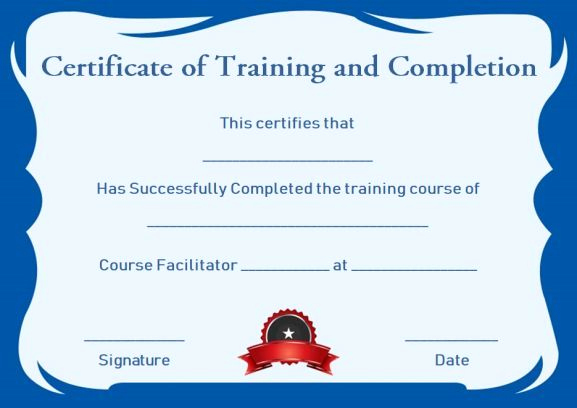 Training Certificate Template Free Download Lovely Certificate Of Pletion 22 Templates In Word format