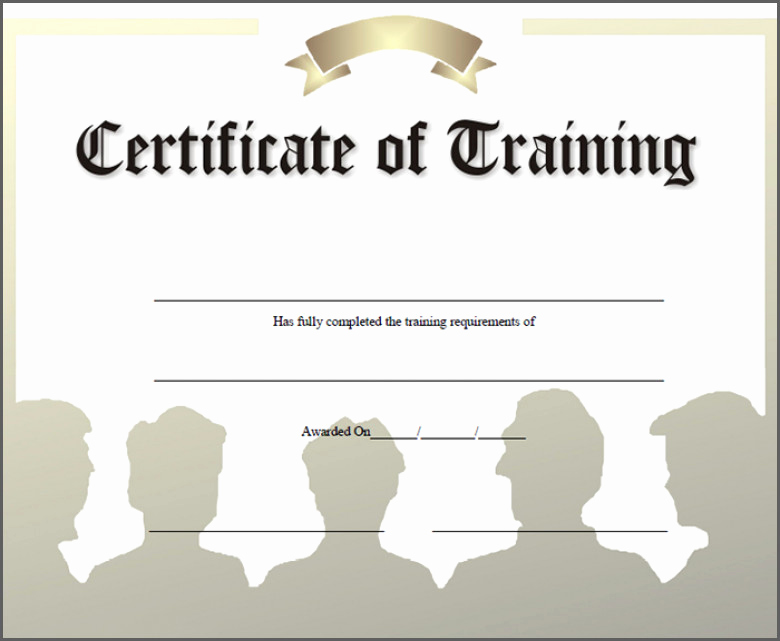Training Certificate Template Free Download Luxury Course Certificate Template Word Sample which Can Be Used