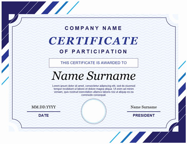 Training Certificate Template Free Download New Certificates Fice