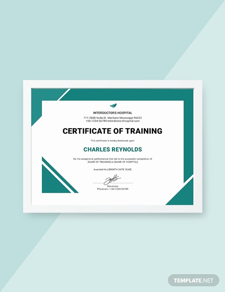 Training Certificate Template Free Download New Free Industrial Training Certificate Template Download