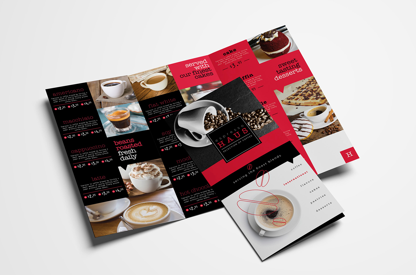 Tri Fold Menu Template Free Awesome Tri Fold Cafe Menu Template In Psd Ai & Vector Brandpacks