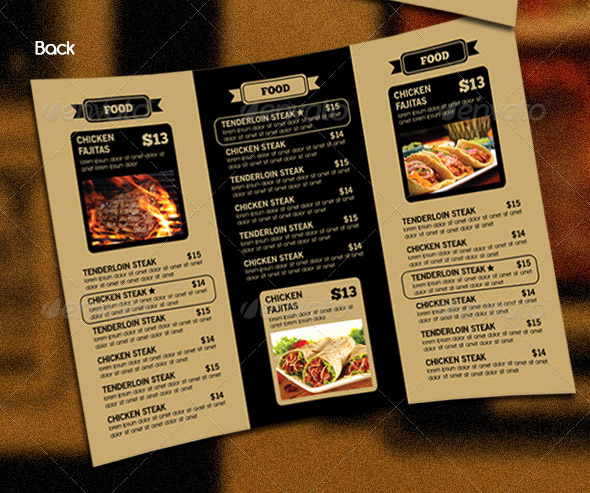 Tri Fold Menu Template Free Best Of 14 Great Tri Fold Restaurant Menu Psd Templates